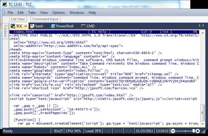 TCC LIST command line file viewer