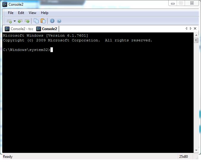 Console2 tabbed windows screenshot