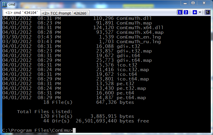 ConEmu Windows command processor screenshot