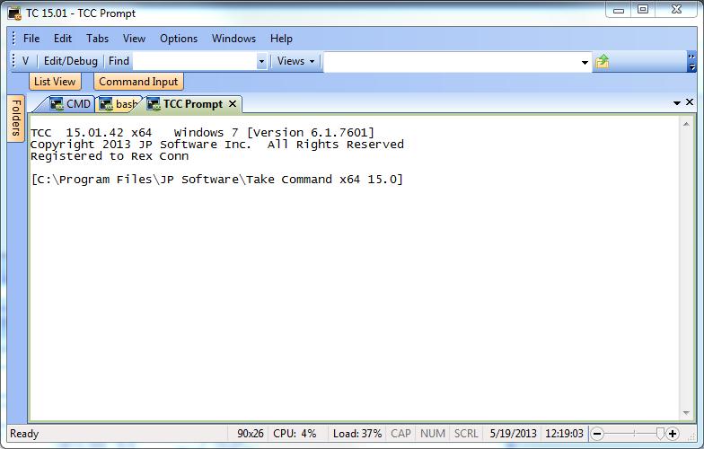 Take Command tabbed Windows command line shell