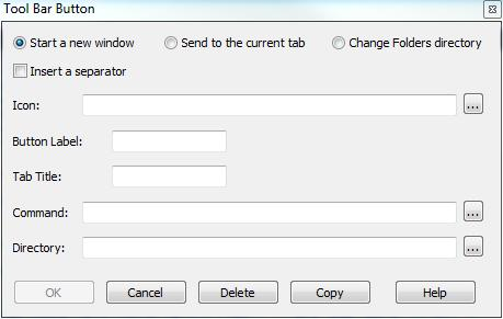 Take Command toolbar configuration dialog